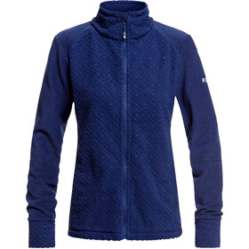 Roxy Surface Through Veste zippée Femme, medieval blue losange jacquard